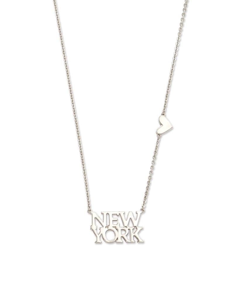 New York Pendant Necklace in Sterling Silver