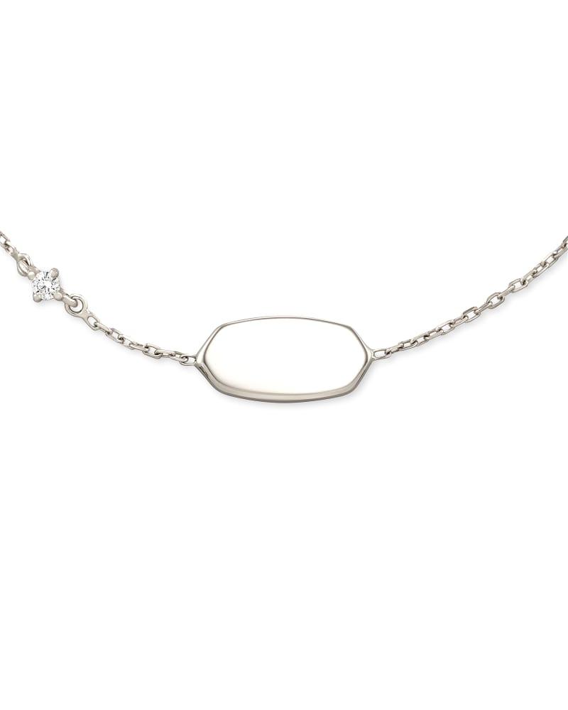 Fern 14k White Gold Delicate Bracelet in White Diamond