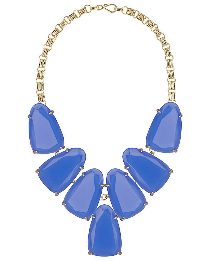 Harlow Statement Necklace in Periwinkle