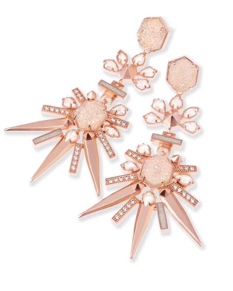 Isadora Statement Earrings in Champagne