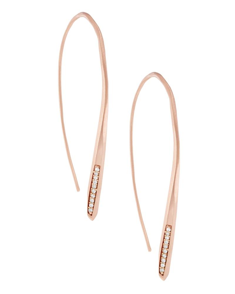 Julian Threader Earrings in Rose Gold