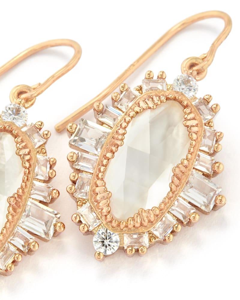 Kapri Drop Earrings in Rose Gold