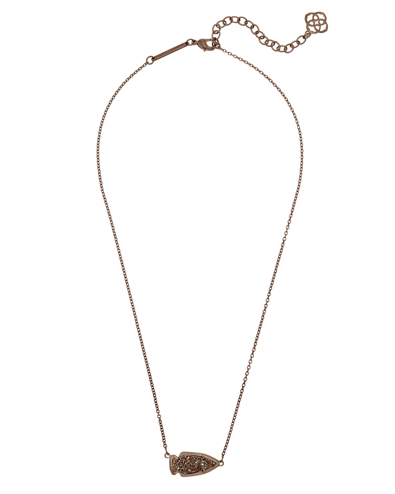 Kasey Pendant Necklace in Chocolate Drusy