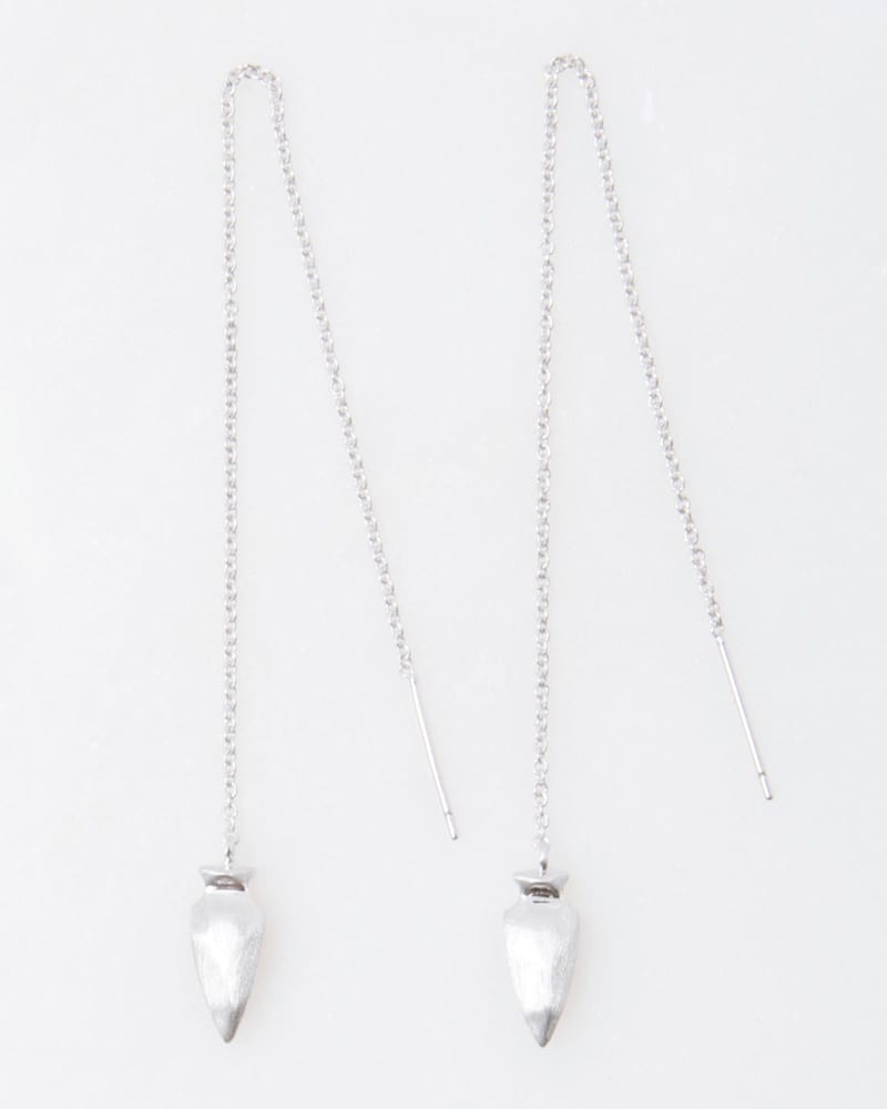 Kimmel Threader Earrings in Silver