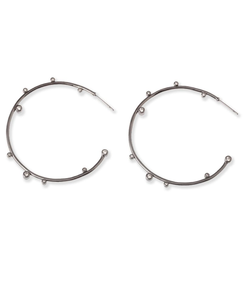 Hematite hoop earrings!