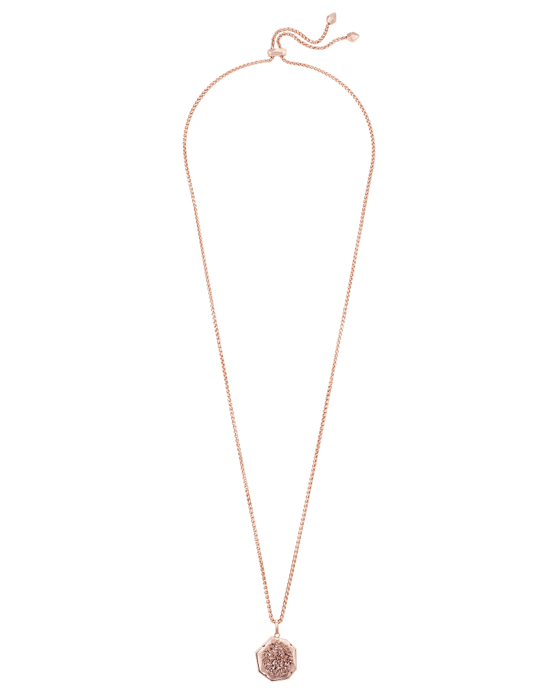 Lizzie Necklace in Rose Gold Window Drusy