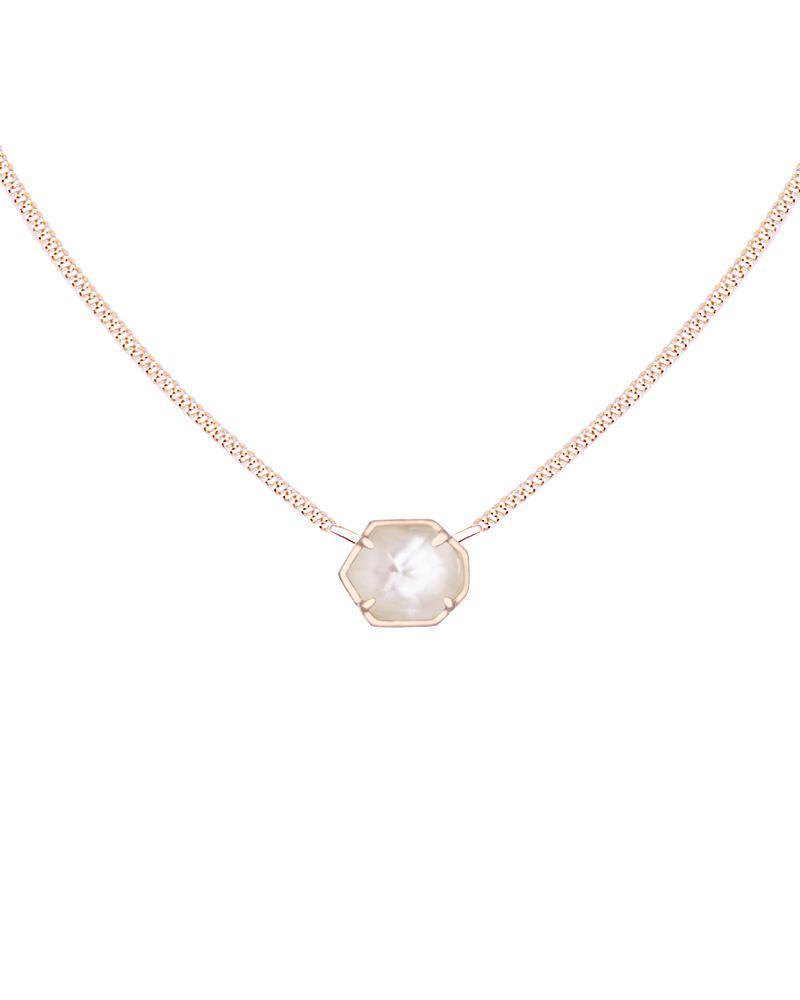 Mabel Pendant Necklace in Rose Gold