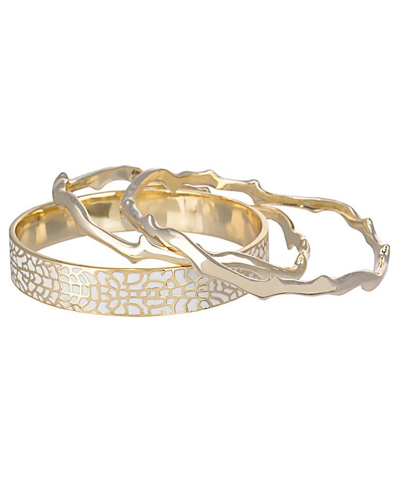 Maren Bangle Bracelet Set in Gold