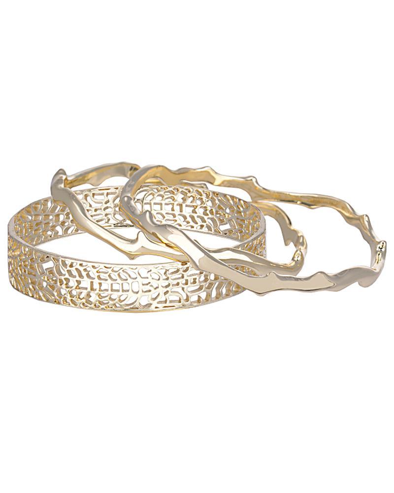 Maren Bangle Bracelets in Gold