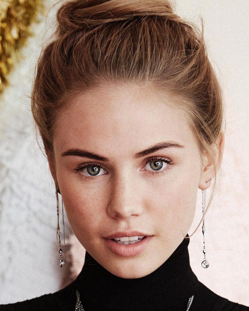 Monica Shoulder Duster Earrings in Rose Gold