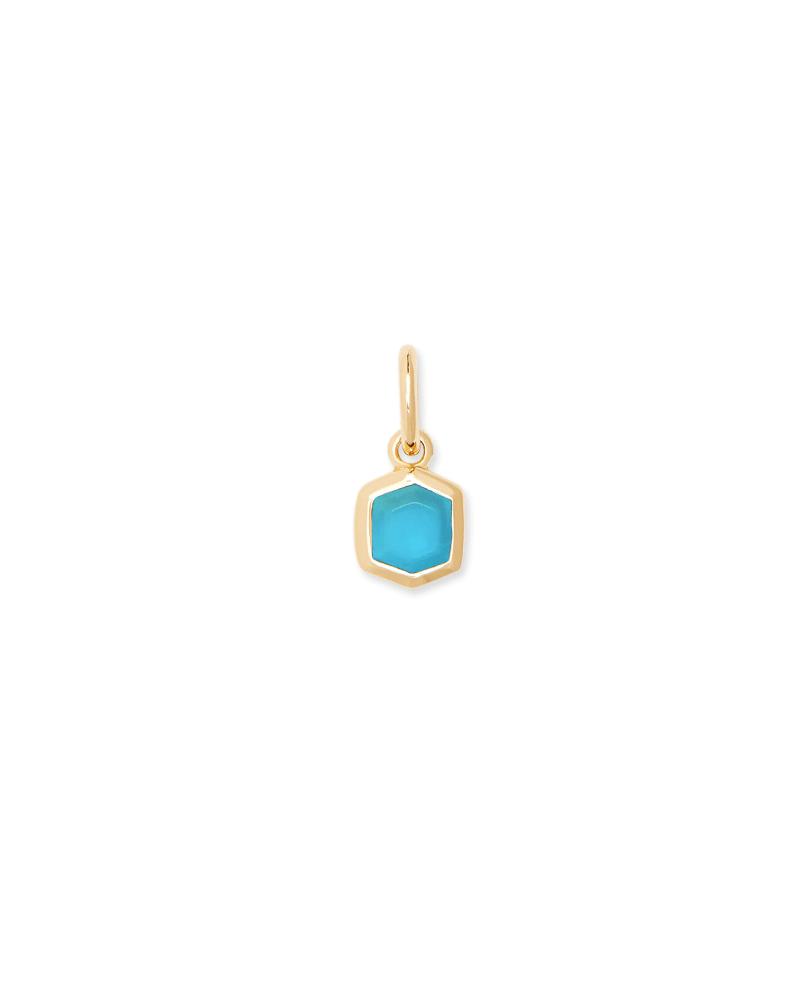 Davie 18K Gold Vermeil Charm in Turquoise