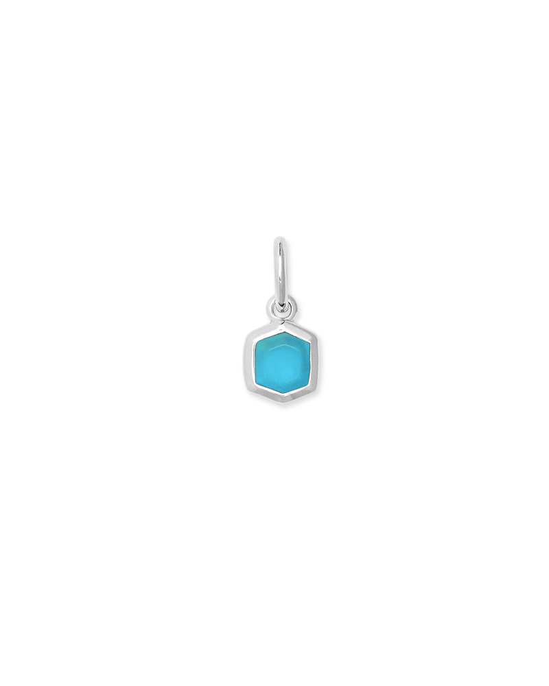 Davie Sterling Silver Charm in Turquoise