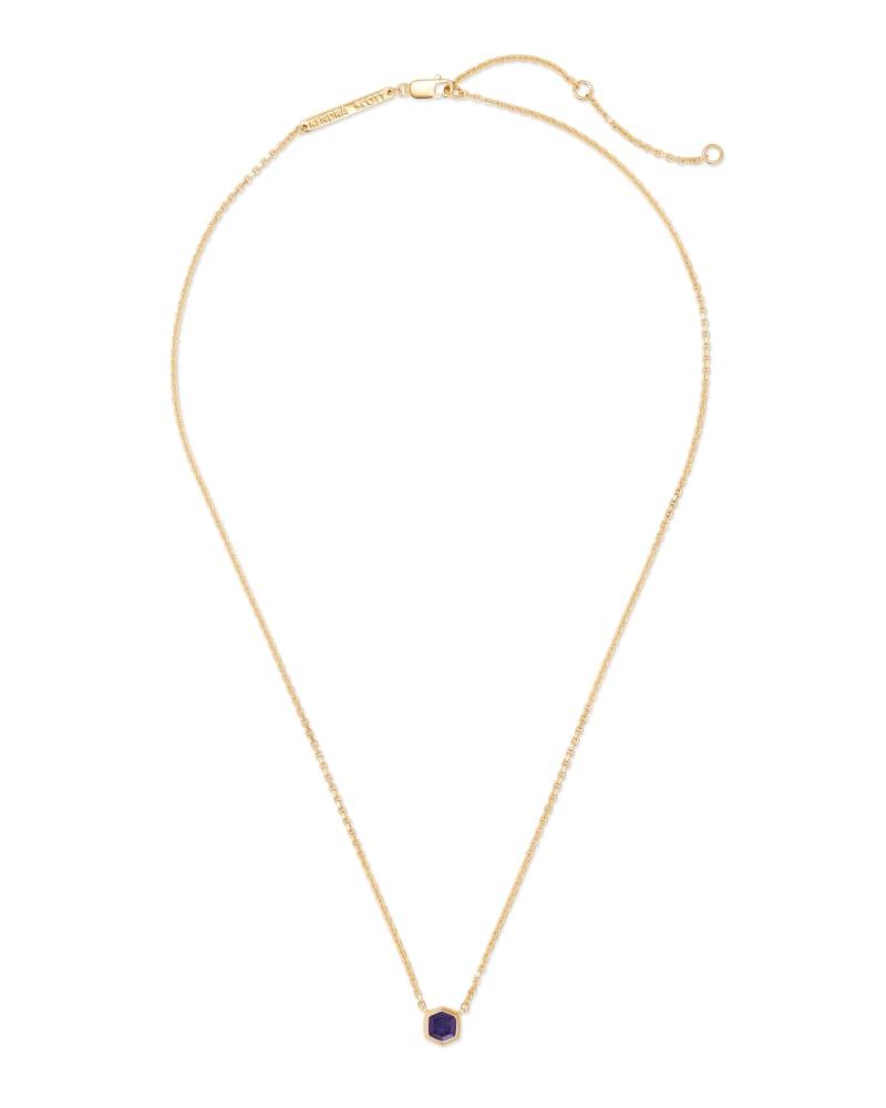 Davie 18K Gold Vermeil Pendant Necklace in  Blue Iolite