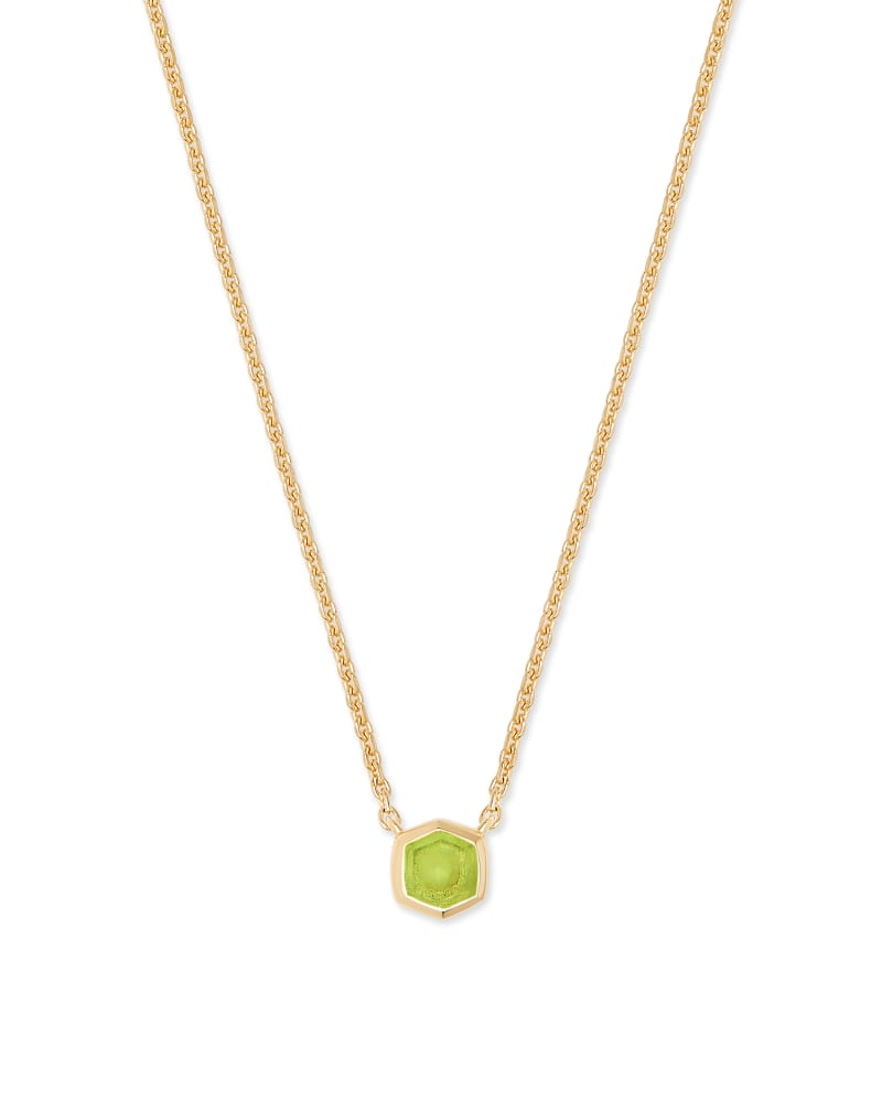 Davie 18K Gold Vermeil Pendant Necklace in Peridot