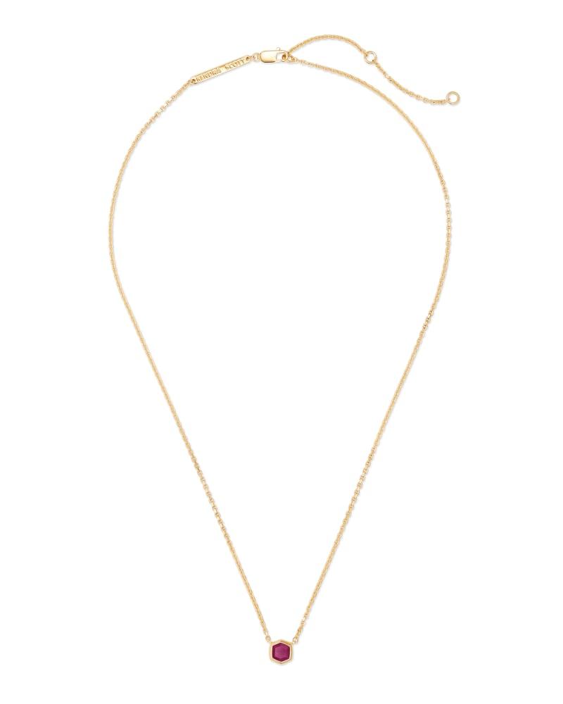 Davie 18K Gold Vermeil Pendant Necklace in Ruby