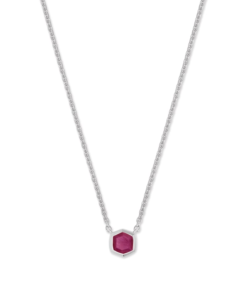 Davie Sterling Silver Pendant Necklace in Ruby