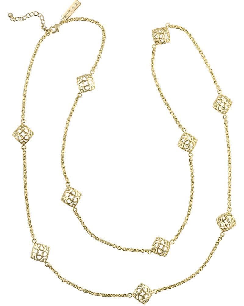 Nemera Long Necklace in Gold