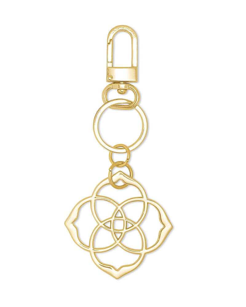 Dira Medallion Keychain in Gold