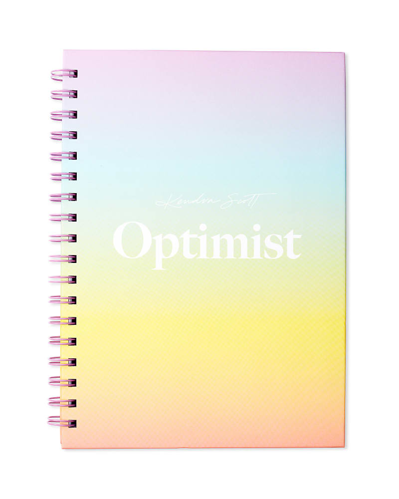 Optimist Spiral Notebook in Ombre Rainbow