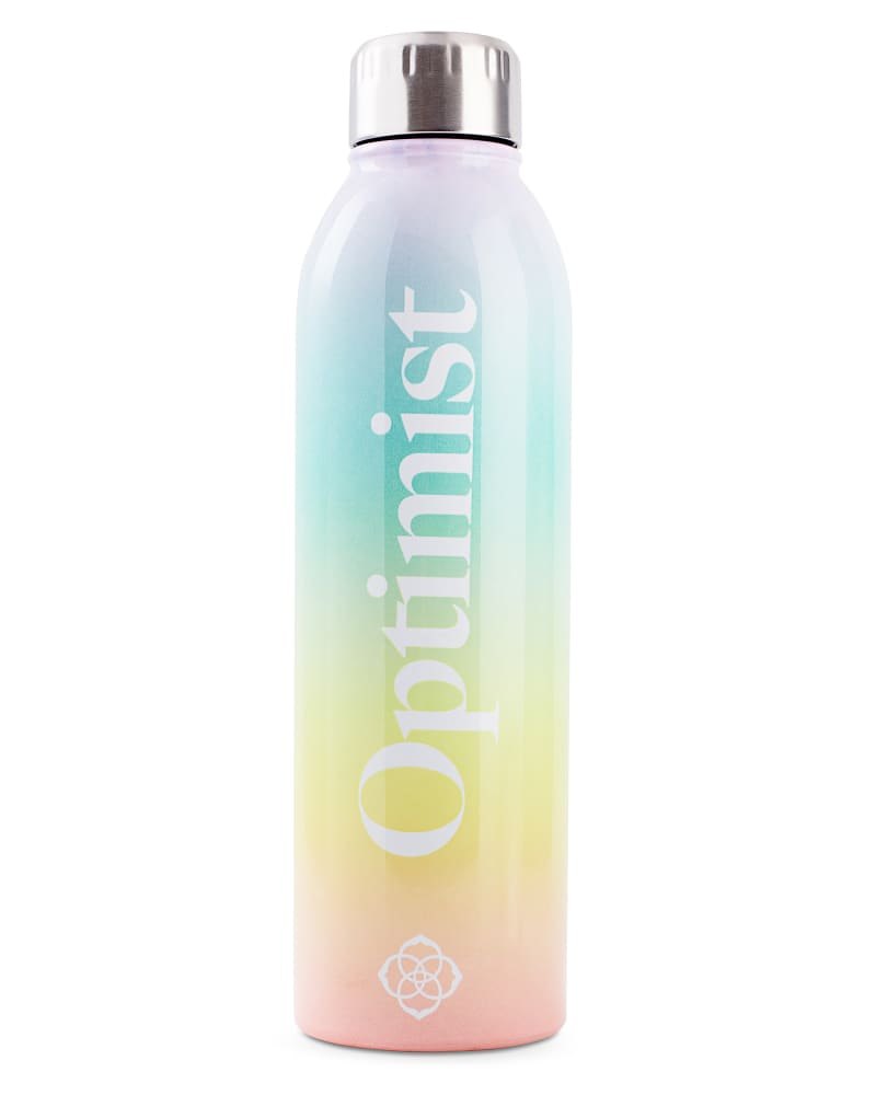 Optimist Water Bottle in Ombre Rainbow