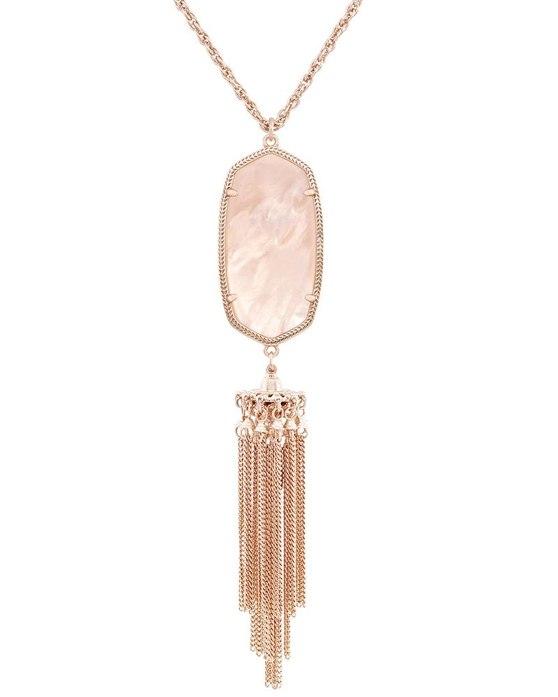 Rayne Necklace in Peach Illusion