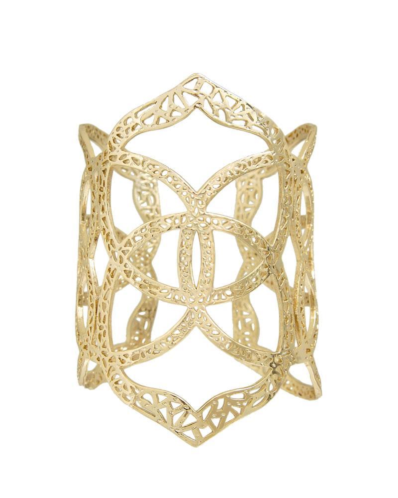 Roni Cuff Bracelet in Gold