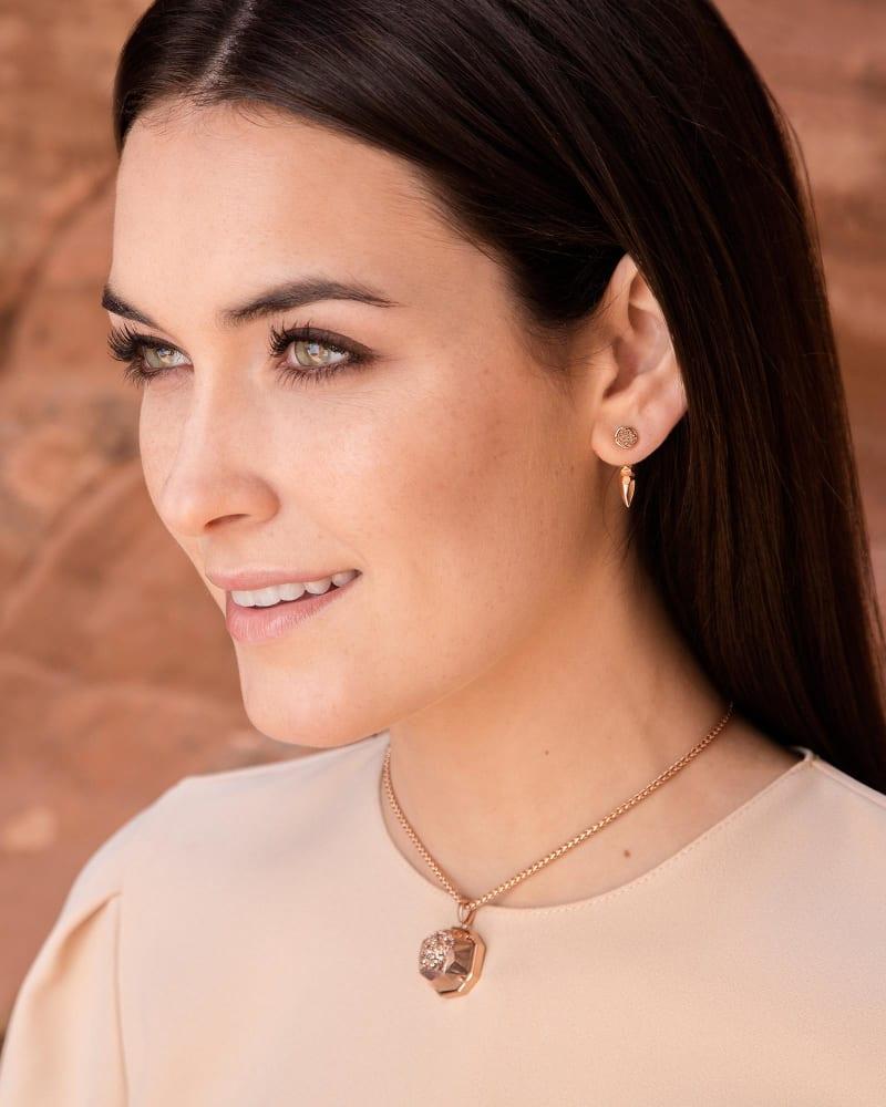 Sierra Ear Jackets in Rose Gold Drusy
