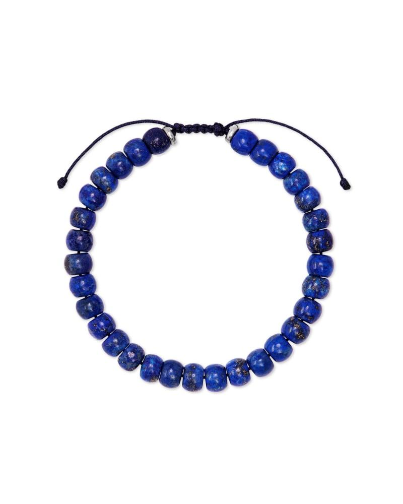 Cade Oxidized Sterling Silver Corded Bracelet in Blue Lapis | Kendra Scott