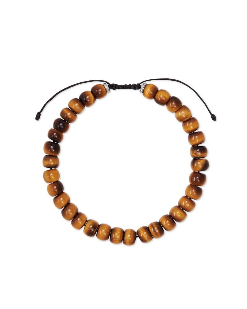 Cade Oxidized Sterling Silver Corded Bracelet in Brown Tiger's Eye | Kendra Scott