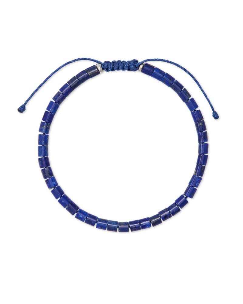 Grey Oxidized Sterling Silver Corded Bracelet in Blue Lapis | Kendra Scott