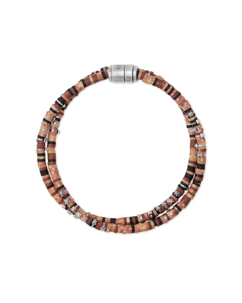 Hicks Oxidized Sterling Silver Corded Bracelet in Tortoise Mix | Kendra Scott