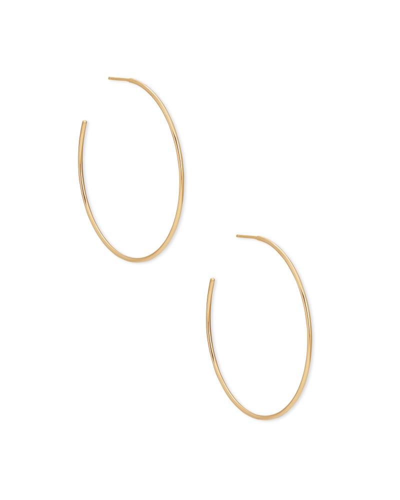 Keeley Hoop Earrings in 18k Gold Vermeil | Kendra Scott