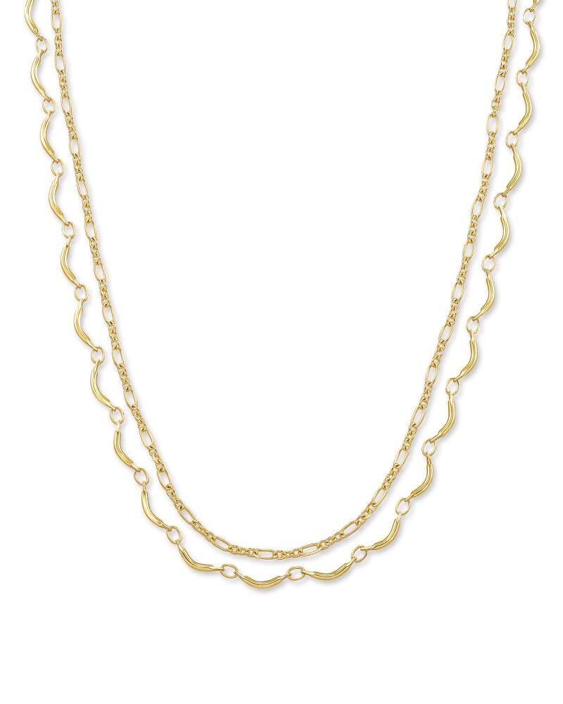 Lori Multi Strand Necklace in Gold