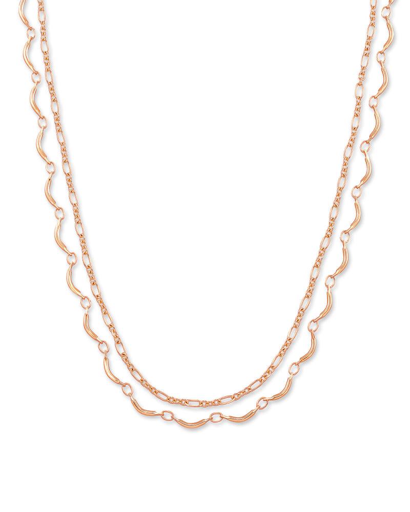 Lori Multi Strand Necklace in Rose Gold