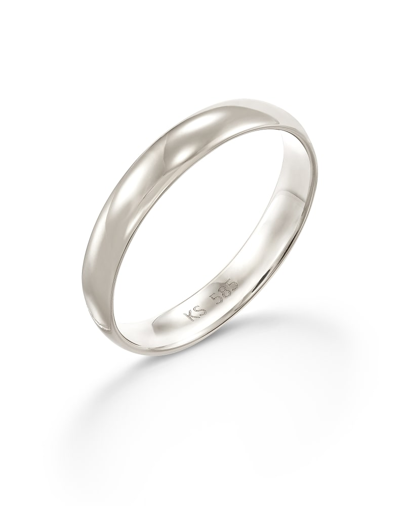 Devin Band Ring in 14k White Gold