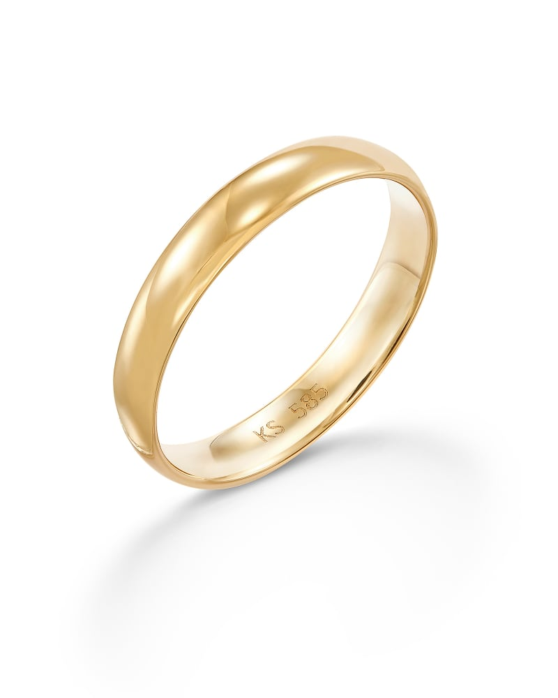 Devin Band Ring in 14k Yellow Gold