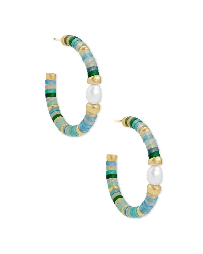 Lila Hoop Earrings