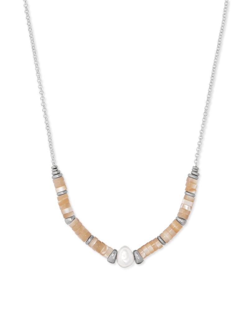 Lila Vintage Silver Strand Necklace in Silver Natural