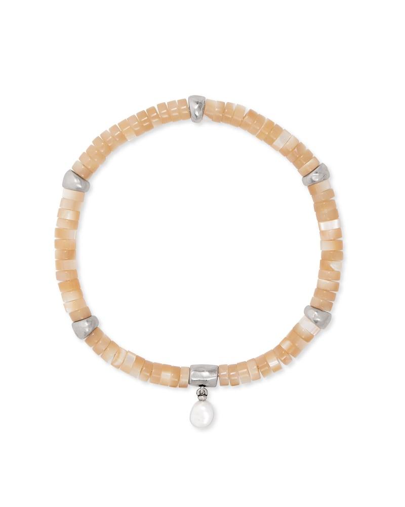 Lila Vintage Silver Stretch Bracelet in Silver Natural
