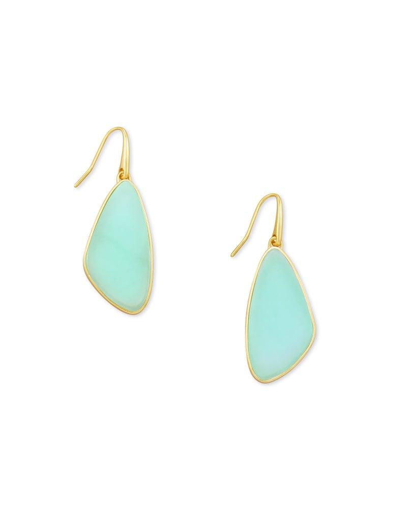 McKenna Gold Small Drop Earrings in Matte Iridescent