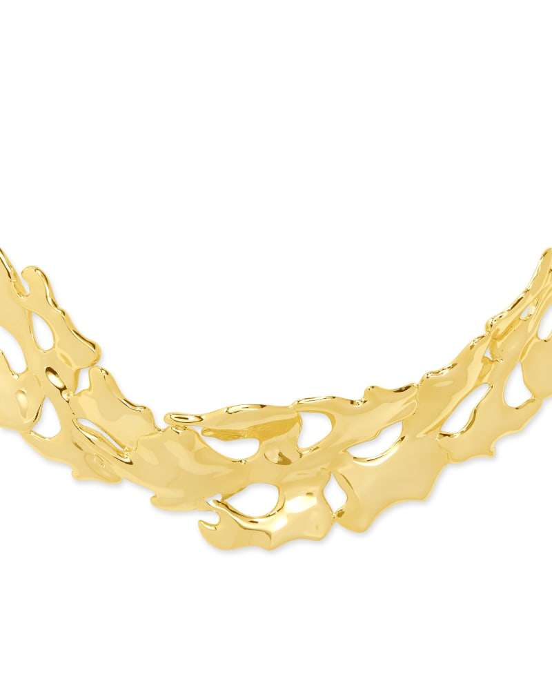 Savannah Collar Necklace in Gold