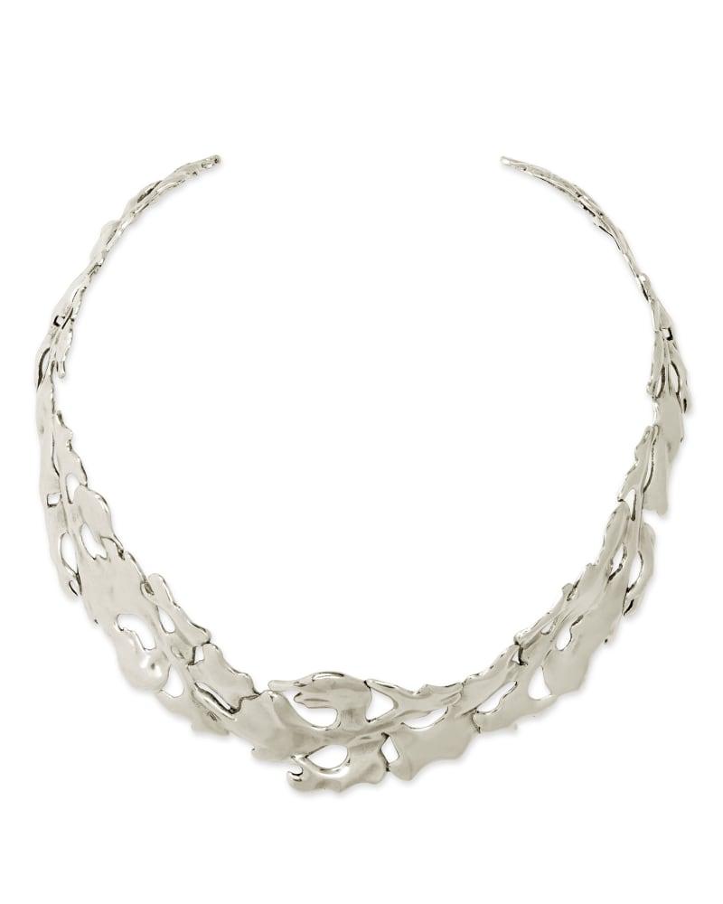 Savannah Collar Necklace in Vintage Silver