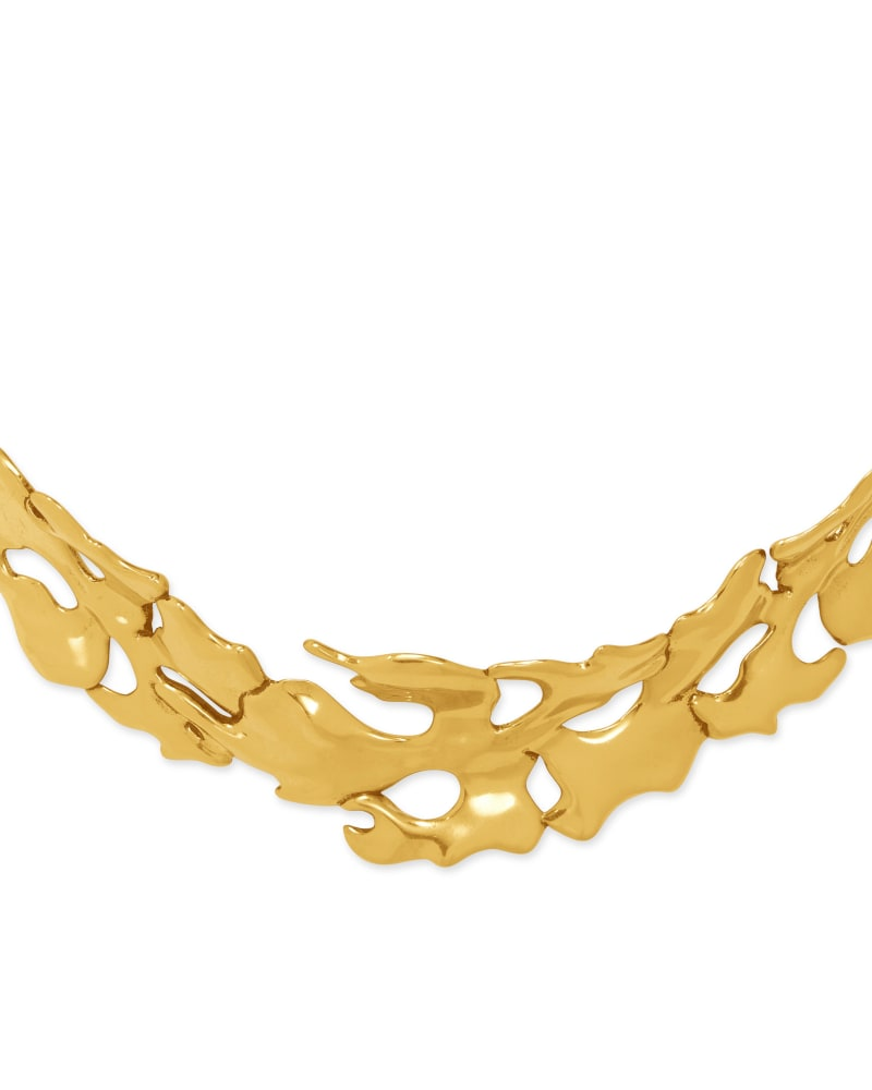 Savannah Collar Necklace in Vintage Gold