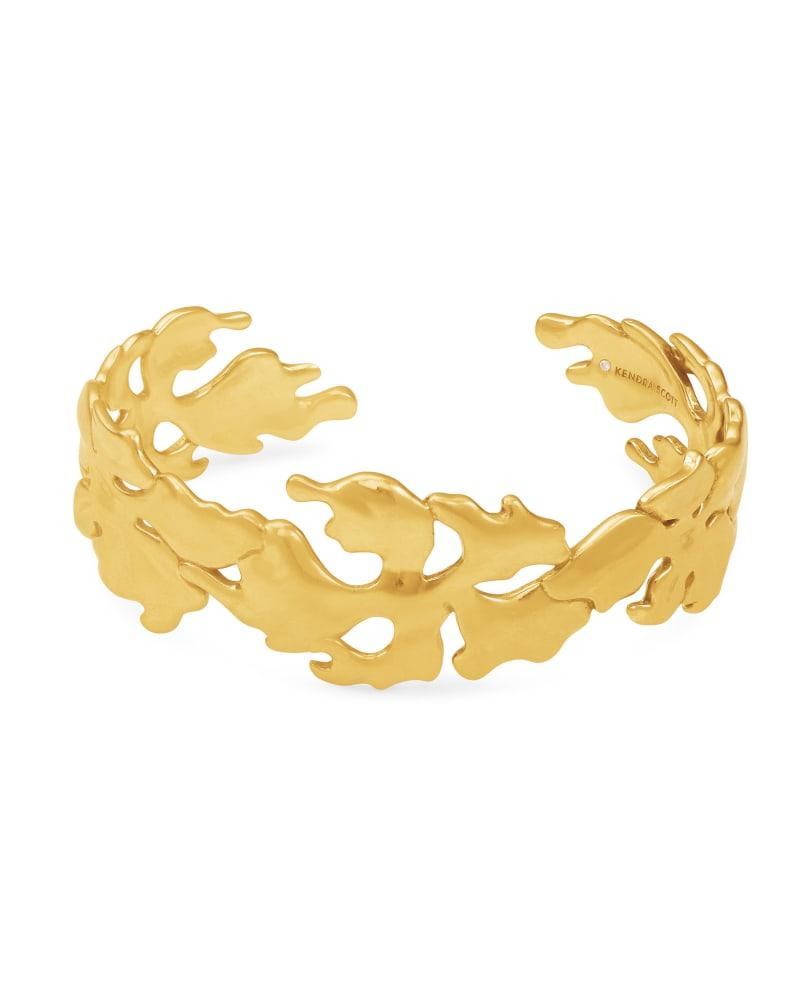 Savannah Cuff Bracelet in Vintage Gold