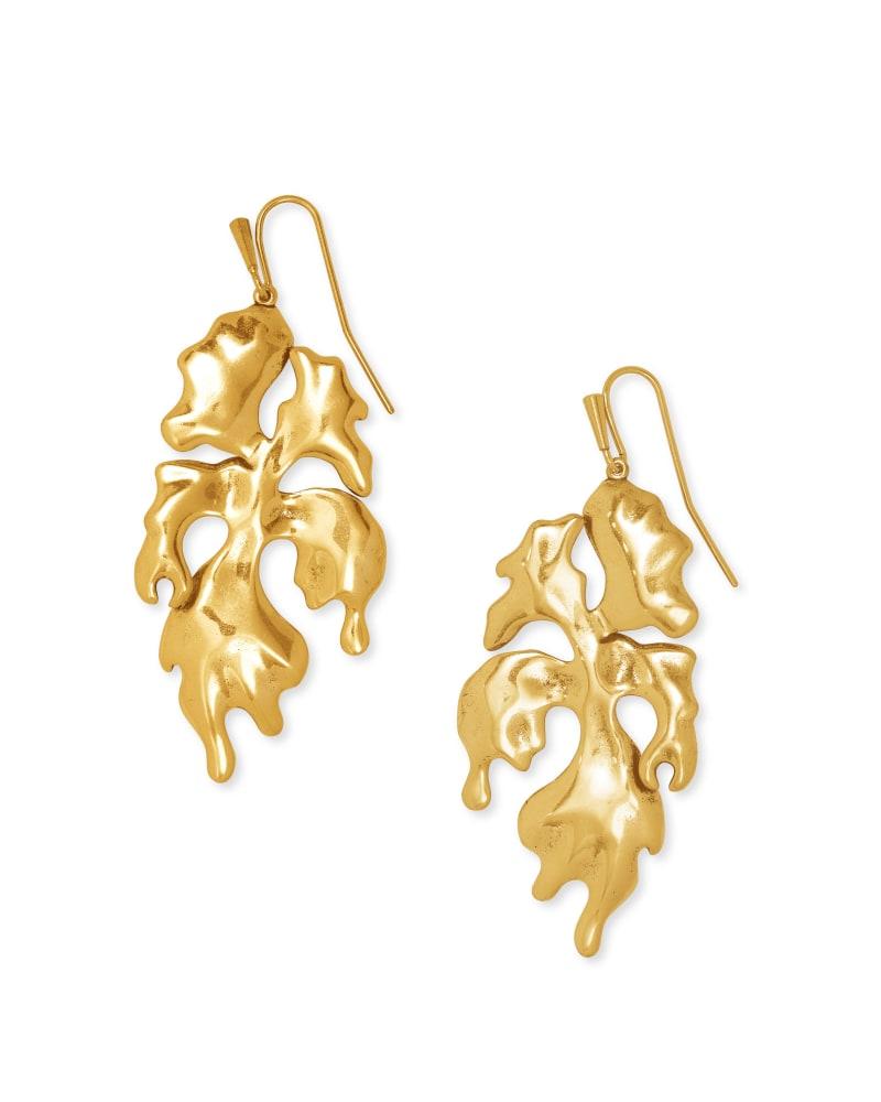 SavannahDrop Earrings in Vintage Gold