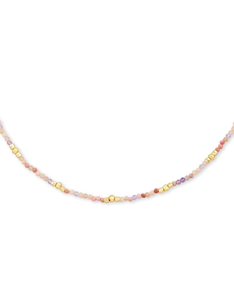 Scarlet Gold Choker Necklace in Pastel Mix