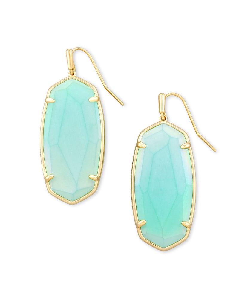 Faceted Elle Drop Earrings in Matte Iridescent Mint Glass | Kendra Scott