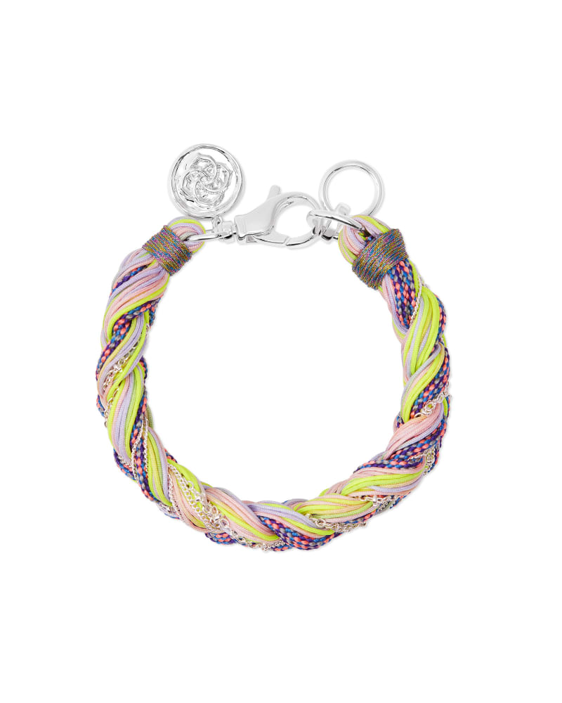Masie Silver Corded Friendship Bracelet in Lilac Mix Paracord