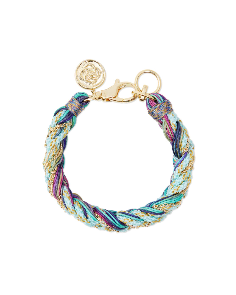 Masie Gold Corded Friendship Bracelet in Mint Mix Paracord