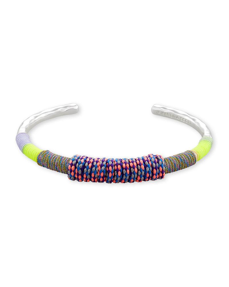 Masie Silver Cuff Bracelet in Lilac Mix Paracord